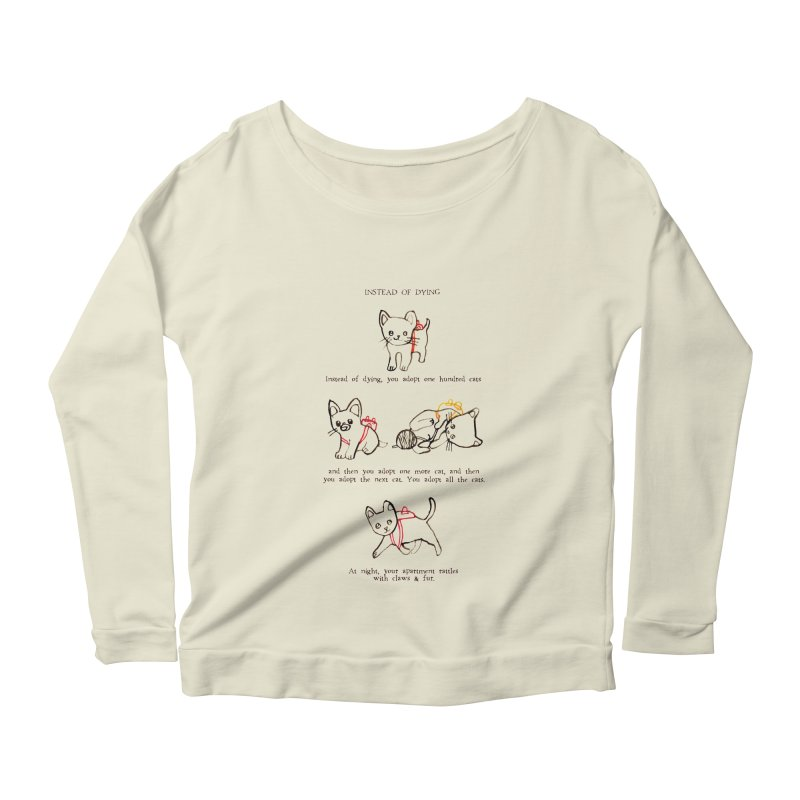 Cats (Adopt) Women's Longsleeve Scoopneck  by Lauren Things Store