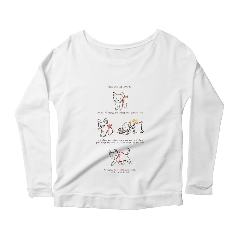 Cats (Adopt) Women's Scoop Neck Longsleeve T-Shirt by Lauren Things Store