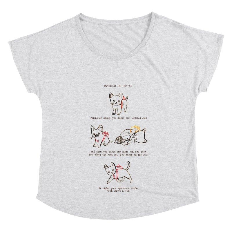 Cats (Adopt) Women's Dolman Scoop Neck by Lauren Things Store