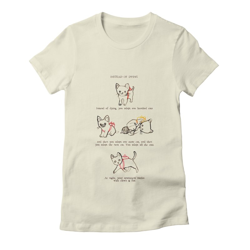 Cats (Adopt) Women's Fitted T-Shirt by Lauren Things Store