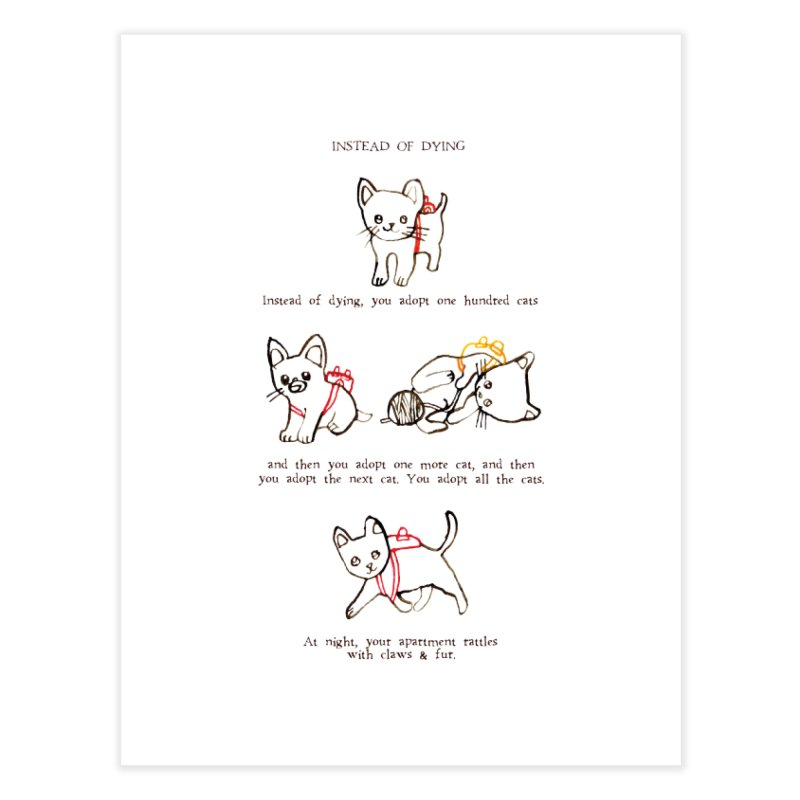 Cats (Adopt) Home Fine Art Print by Lauren Things Store