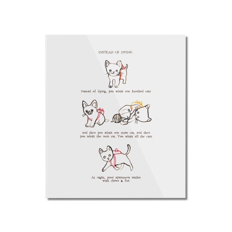 Cats (Adopt) Home Mounted Acrylic Print by Lauren Things Store