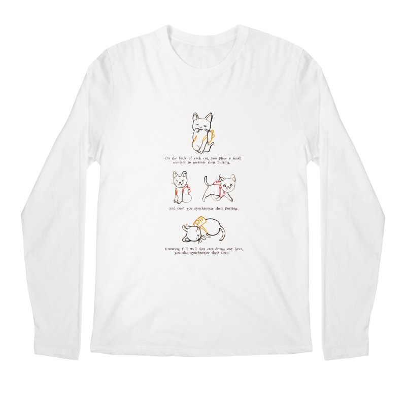 Cats (Purring) Men's Regular Longsleeve T-Shirt by Lauren Things Store