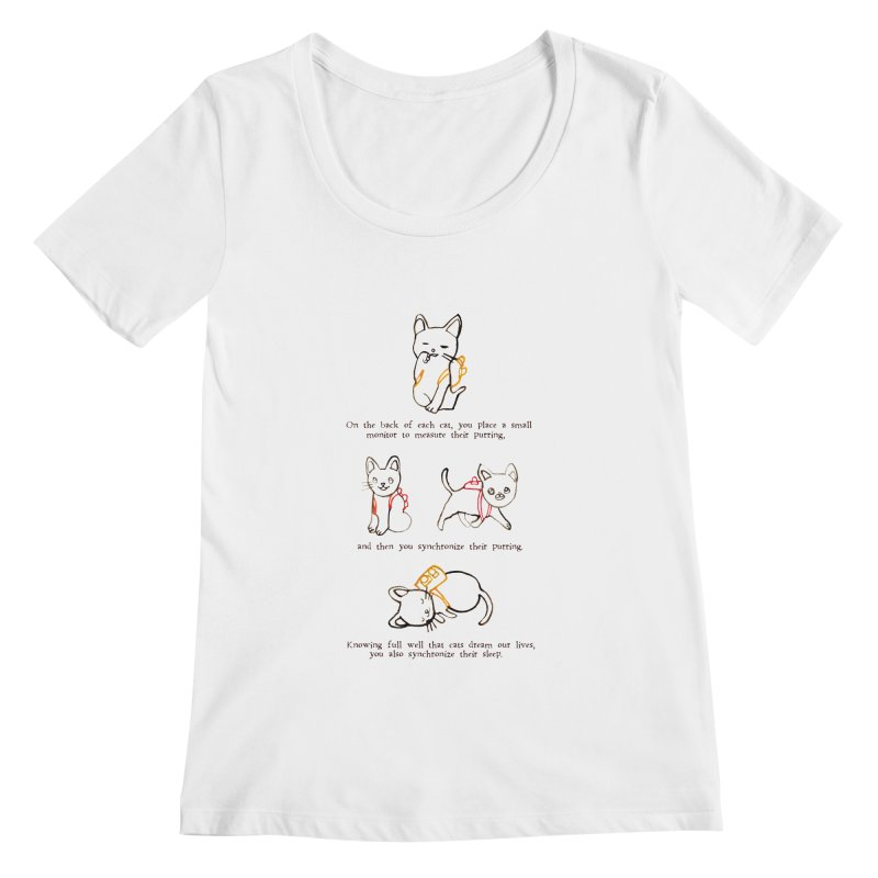 Cats (Purring) Women's Regular Scoop Neck by Lauren Things Store