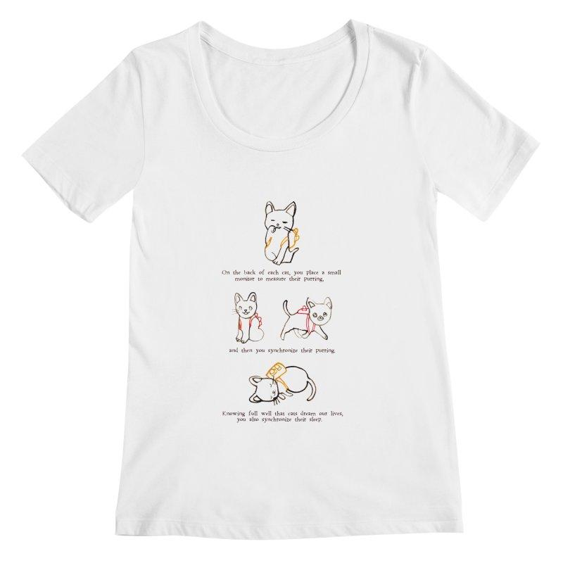Cats (Purring) Women's Scoopneck by Lauren Things Store