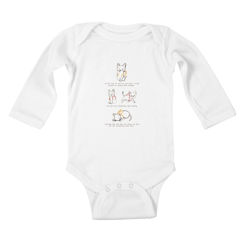 Cats (Purring) Kids Baby Longsleeve Bodysuit by Lauren Things Store