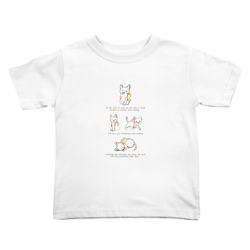 Cats (Purring) Kids Toddler T-Shirt by Lauren Things Store