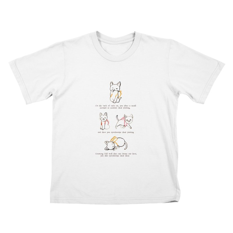 Cats (Purring) Kids T-Shirt by Lauren Things Store