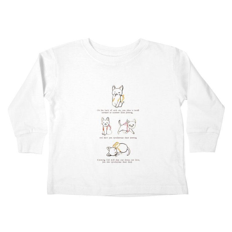 Cats (Purring) Kids Toddler Longsleeve T-Shirt by Lauren Things Store
