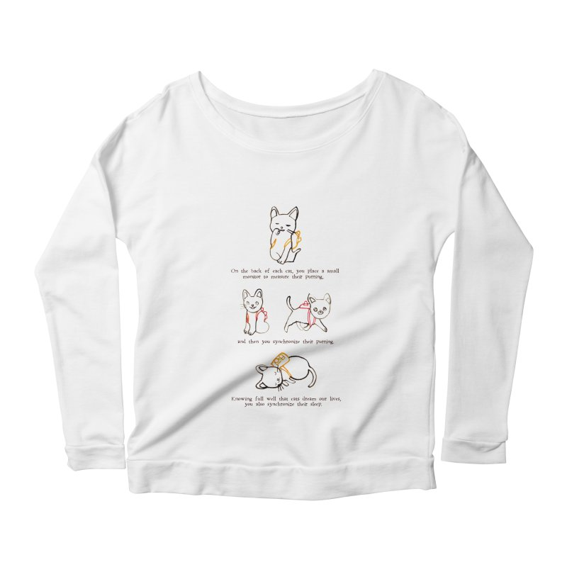 Cats (Purring) Women's Scoop Neck Longsleeve T-Shirt by Lauren Things Store