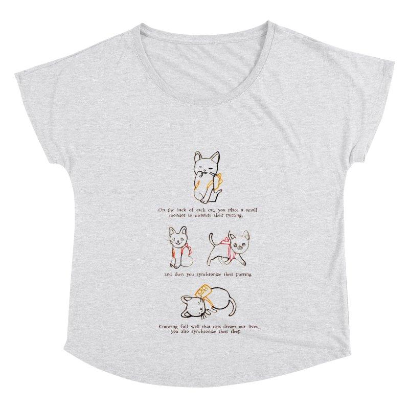Cats (Purring) Women's Dolman Scoop Neck by Lauren Things Store