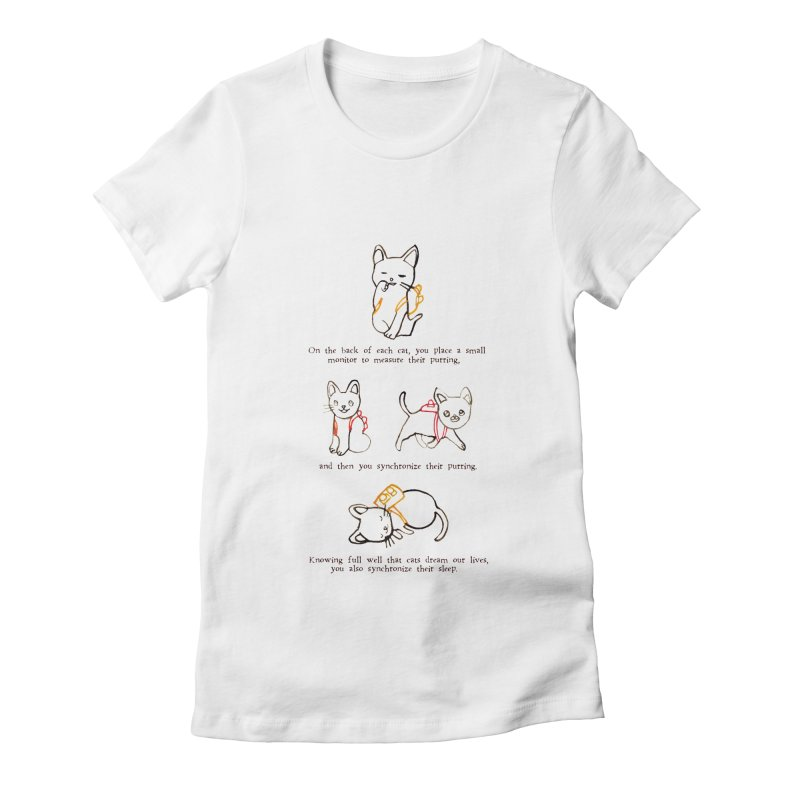 Cats (Purring) Women's Fitted T-Shirt by Lauren Things Store