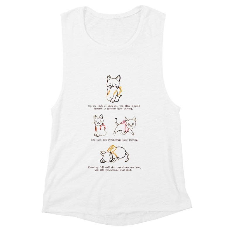 Cats (Purring) Women's Muscle Tank by Lauren Things Store