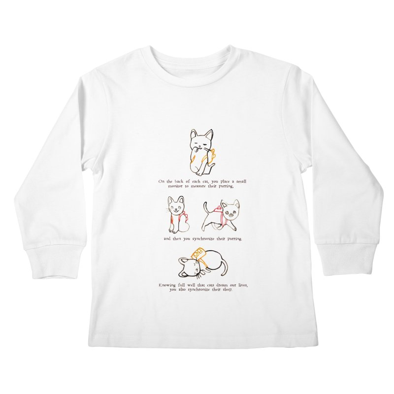 Cats (Purring) Kids Longsleeve T-Shirt by Lauren Things Store