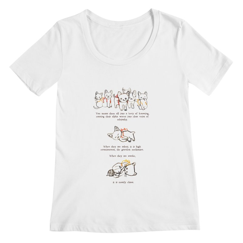 Cats (Chaos) Women's Scoopneck by Lauren Things Store
