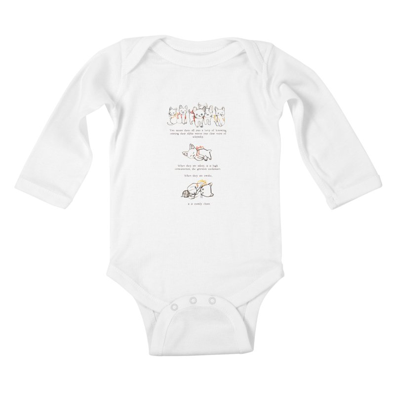Cats (Chaos) Kids Baby Longsleeve Bodysuit by Lauren Things Store