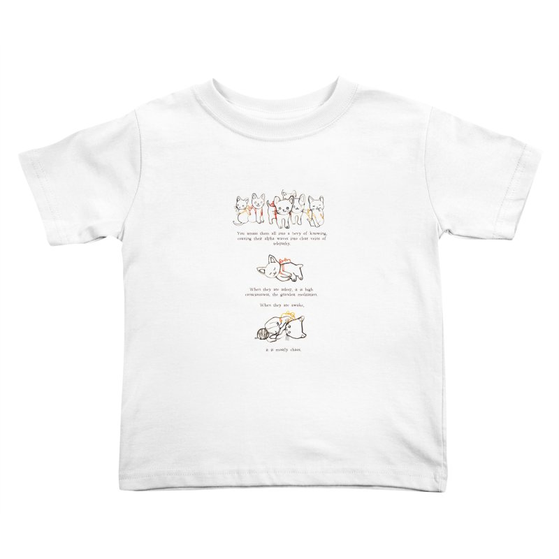 Cats (Chaos) Kids Toddler T-Shirt by Lauren Things Store