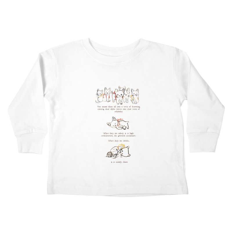 Cats (Chaos) Kids Toddler Longsleeve T-Shirt by Lauren Things Store
