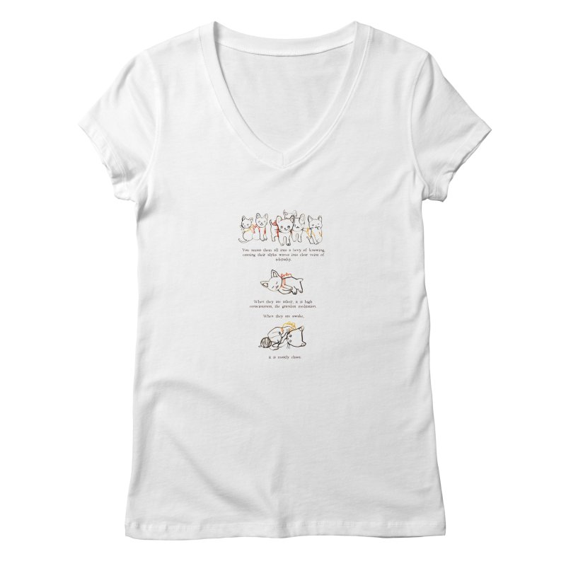 Cats (Chaos) Women's V-Neck by Lauren Things Store