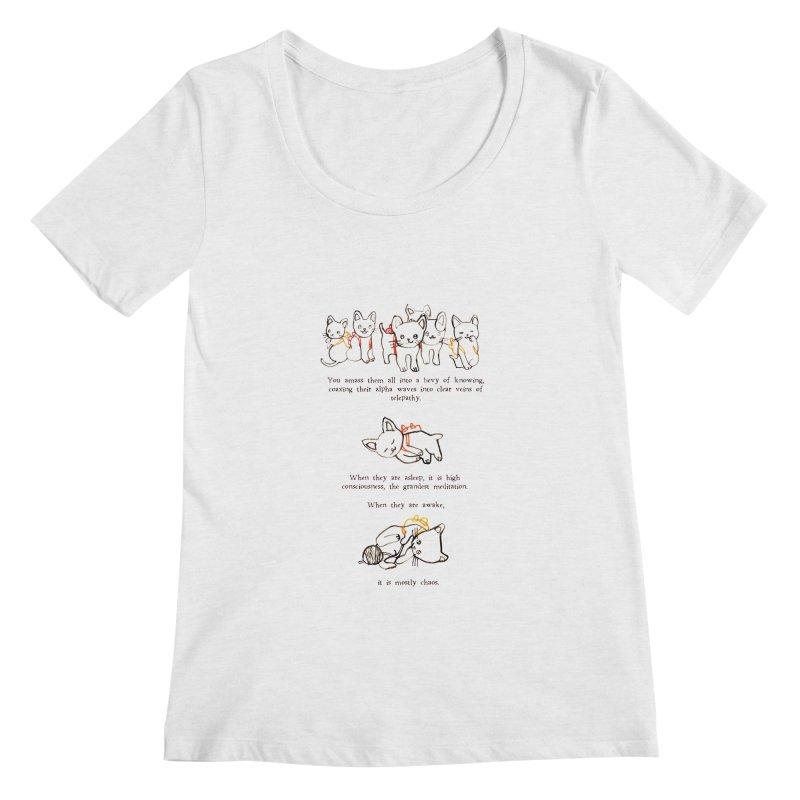 Cats (Chaos) Women's Regular Scoop Neck by Lauren Things Store