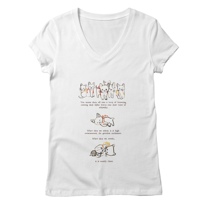 Cats (Chaos) Women's Regular V-Neck by Lauren Things Store