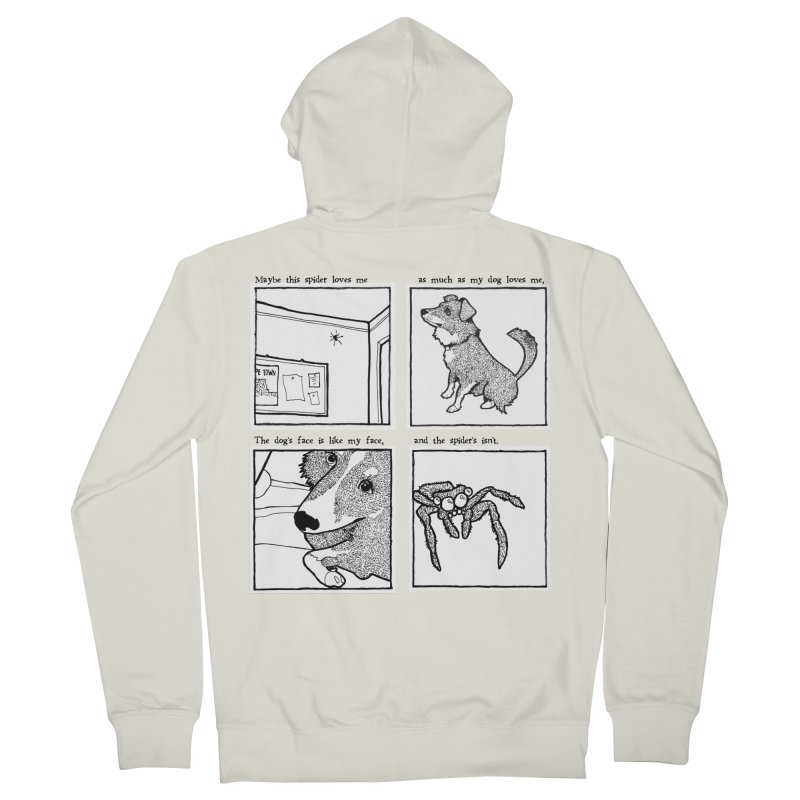 Dog + Spider Women's French Terry Zip-Up Hoody by Lauren Things Store