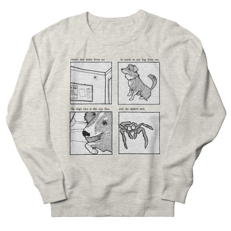 Dog + Spider Men's French Terry Sweatshirt by Lauren Things Store