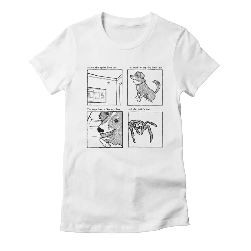 Dog + Spider Women's Fitted T-Shirt by Lauren Things Store