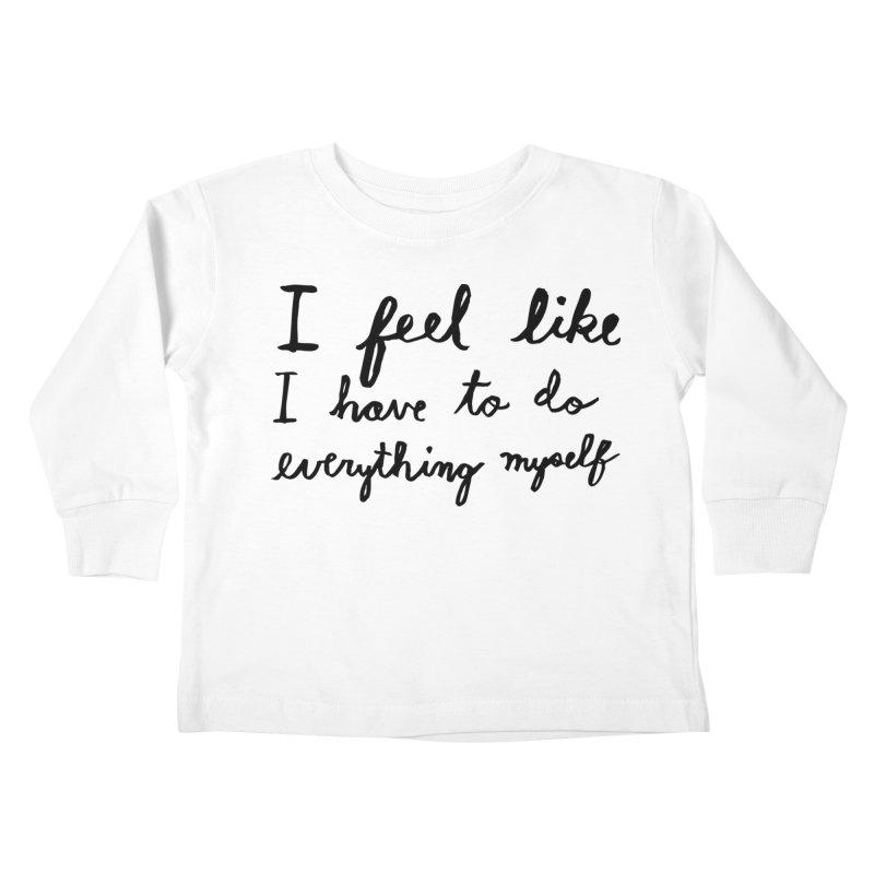 Everything Myself Kids Toddler Longsleeve T-Shirt by Lauren Things Store