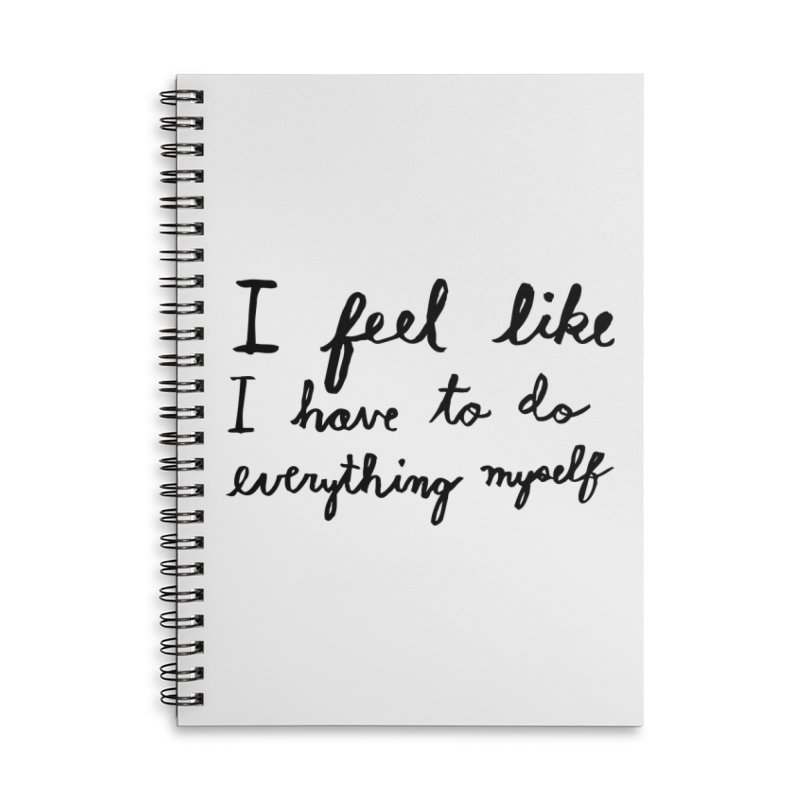 Everything Myself Accessories Lined Spiral Notebook by Lauren Things Store