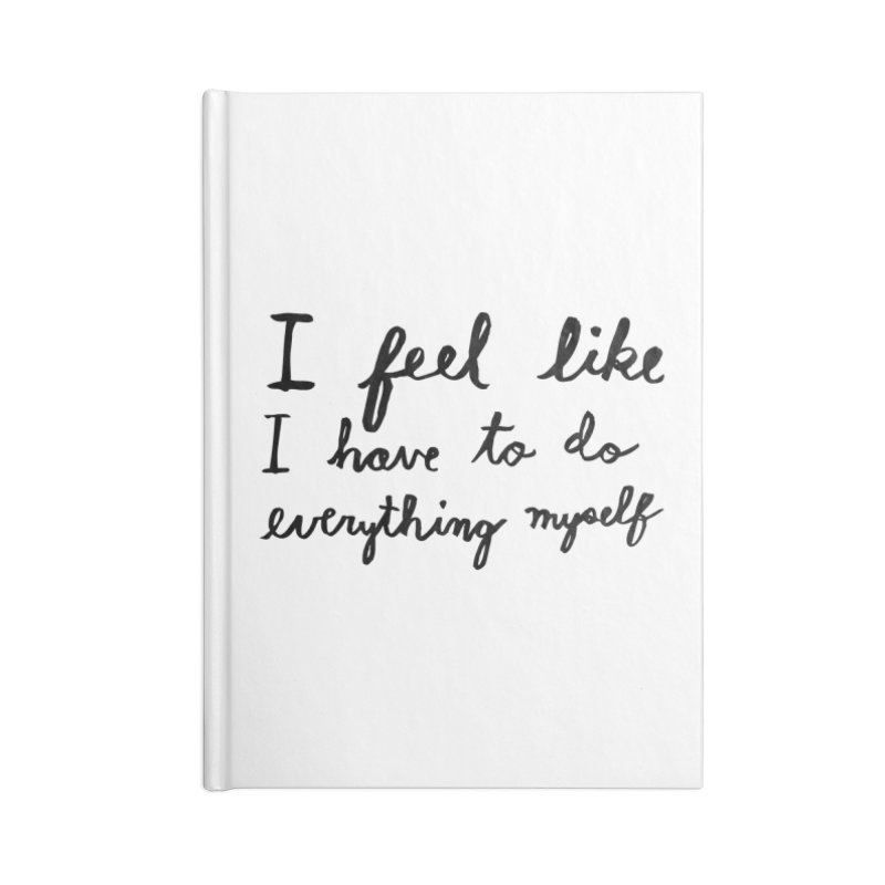 Everything Myself Accessories Blank Journal Notebook by Lauren Things Store