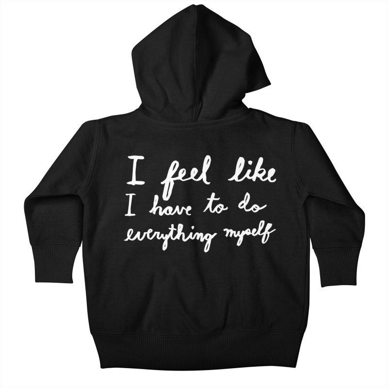 Everything Myself (Light) Kids Baby Zip-Up Hoody by Lauren Things Store