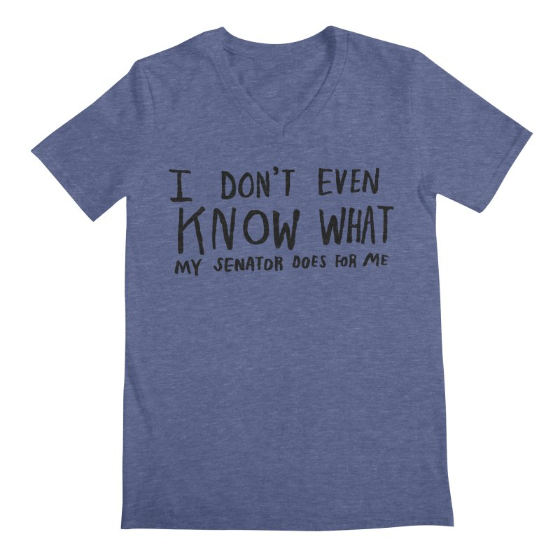 I Don't Even Know Men's V-Neck by Lauren Things Store