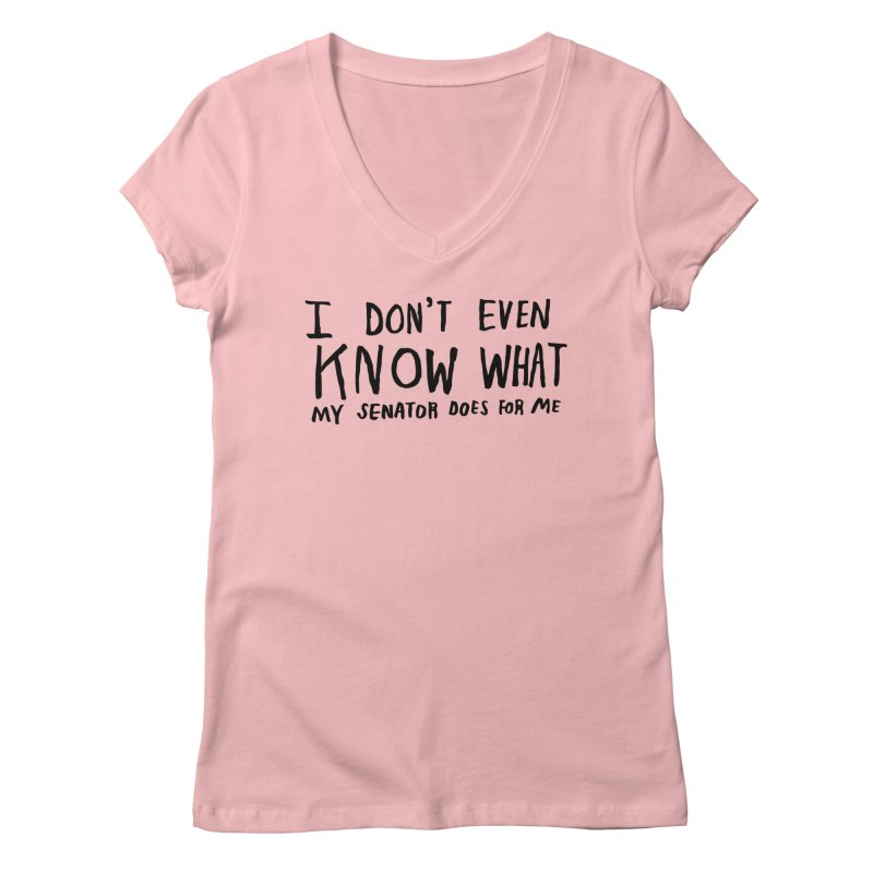 I Don't Even Know Women's Regular V-Neck by Lauren Things Store