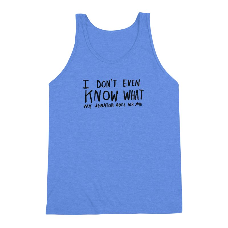I Don't Even Know Men's Triblend Tank by Lauren Things Store