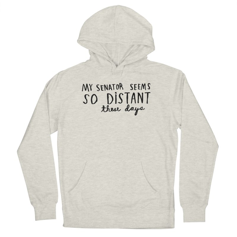 Distant Men's French Terry Pullover Hoody by Lauren Things Store