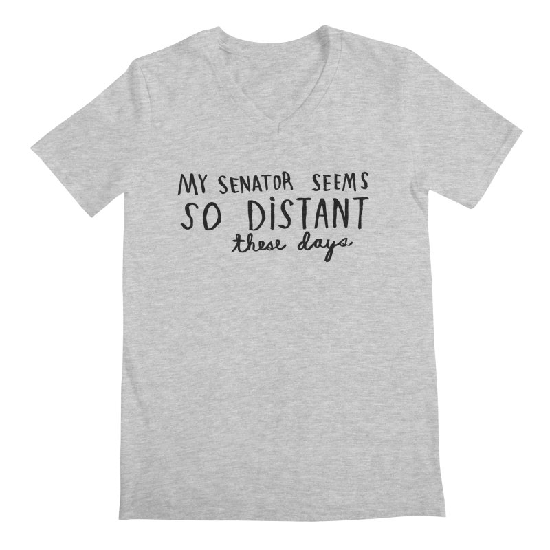 Distant Men's V-Neck by Lauren Things Store