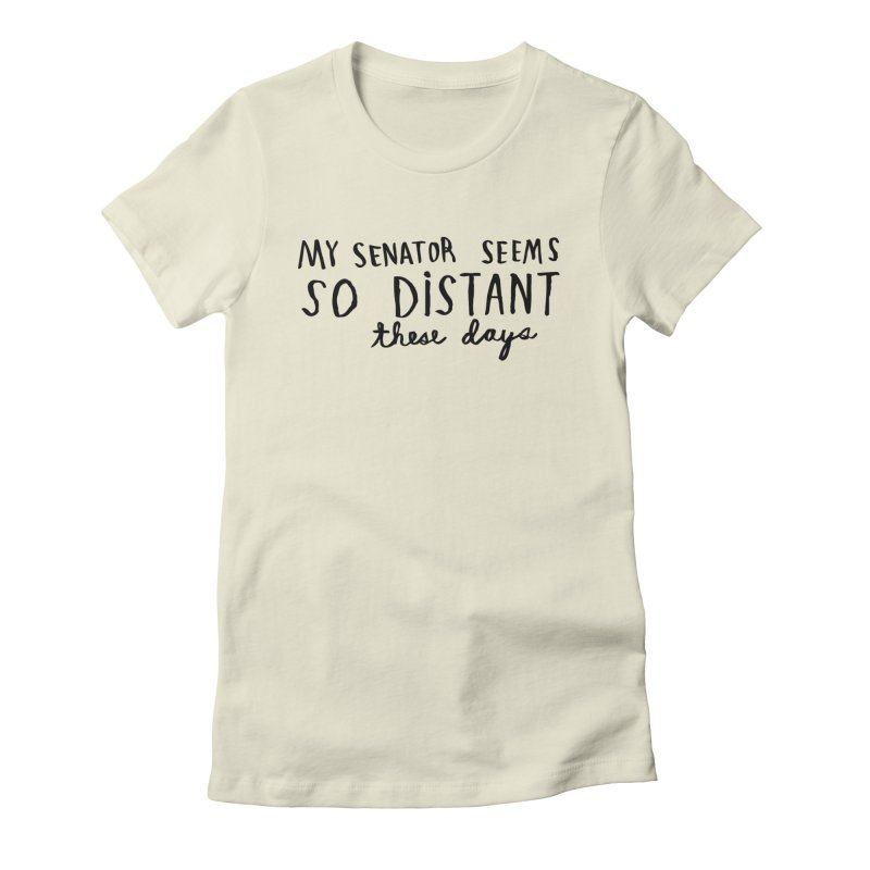 Distant in Women's Fitted T-Shirt Natural by Lauren Things Store