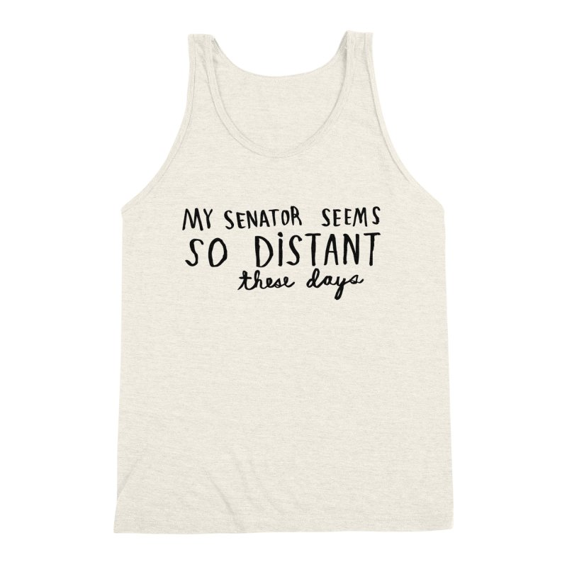 Distant Men's Triblend Tank by Lauren Things Store