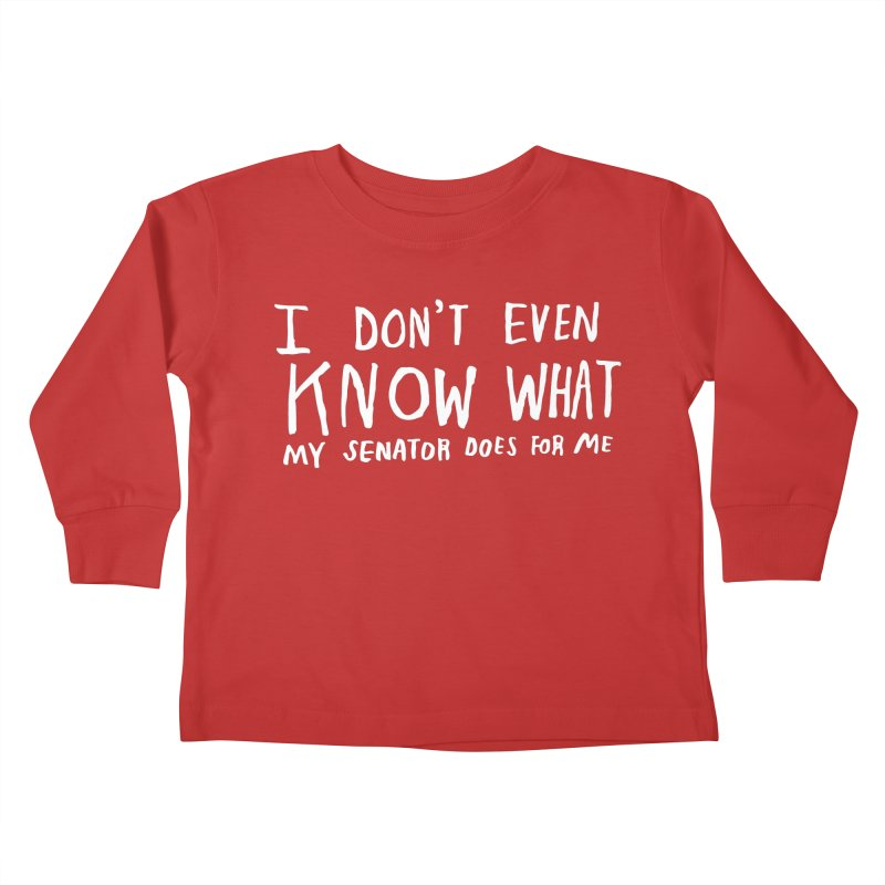 I Don't Even Know (Light) Kids Toddler Longsleeve T-Shirt by Lauren Things Store