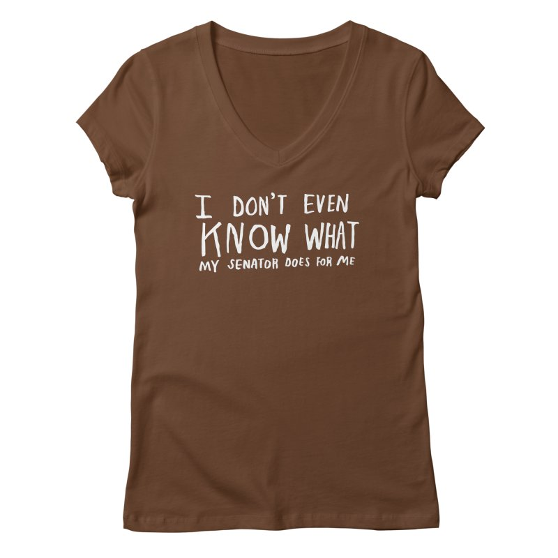 I Don't Even Know (Light) Women's Regular V-Neck by Lauren Things Store