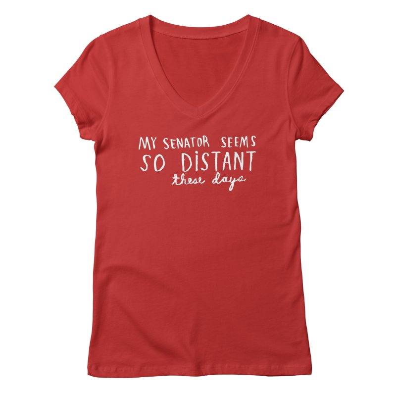 Distant (Light) Women's V-Neck by Lauren Things Store