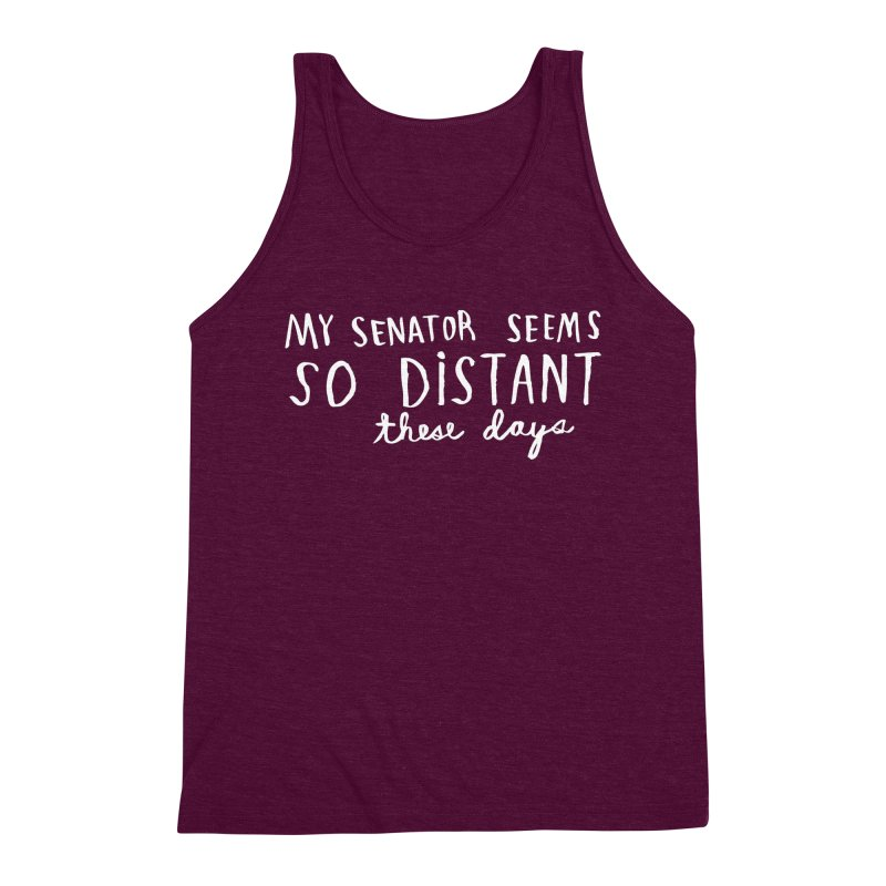 Distant (Light) Men's Triblend Tank by Lauren Things Store