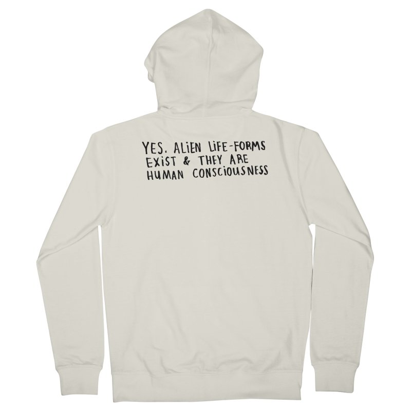 Yes Alien Life Men's Zip-Up Hoody by Lauren Things Store