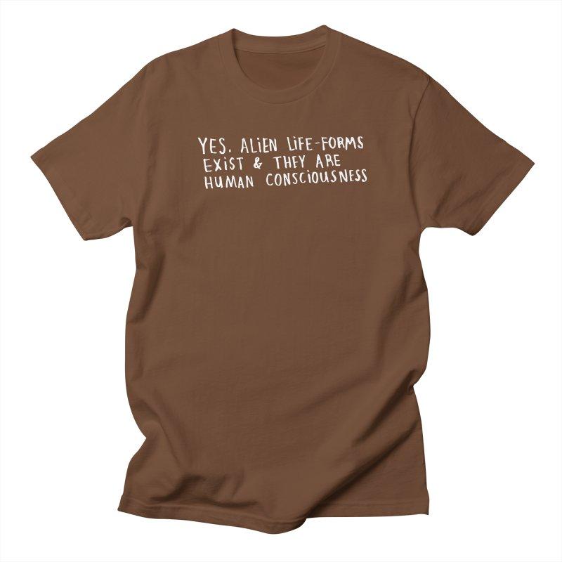 Yes Alien Life (Light) Men's Regular T-Shirt by Lauren Things Store