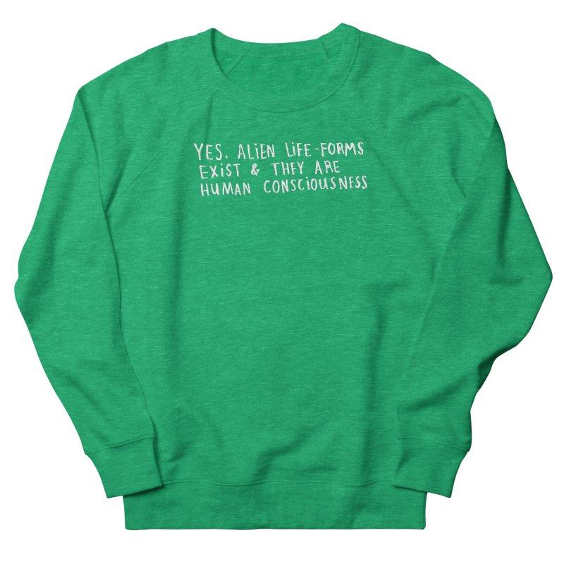 Yes Alien Life (Light) Men's French Terry Sweatshirt by Lauren Things Store
