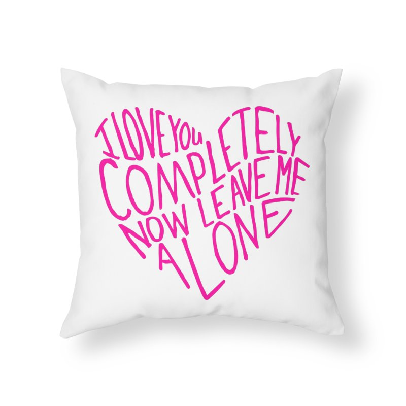 Introvert Love (Pink) Home Throw Pillow by Lauren Things Store
