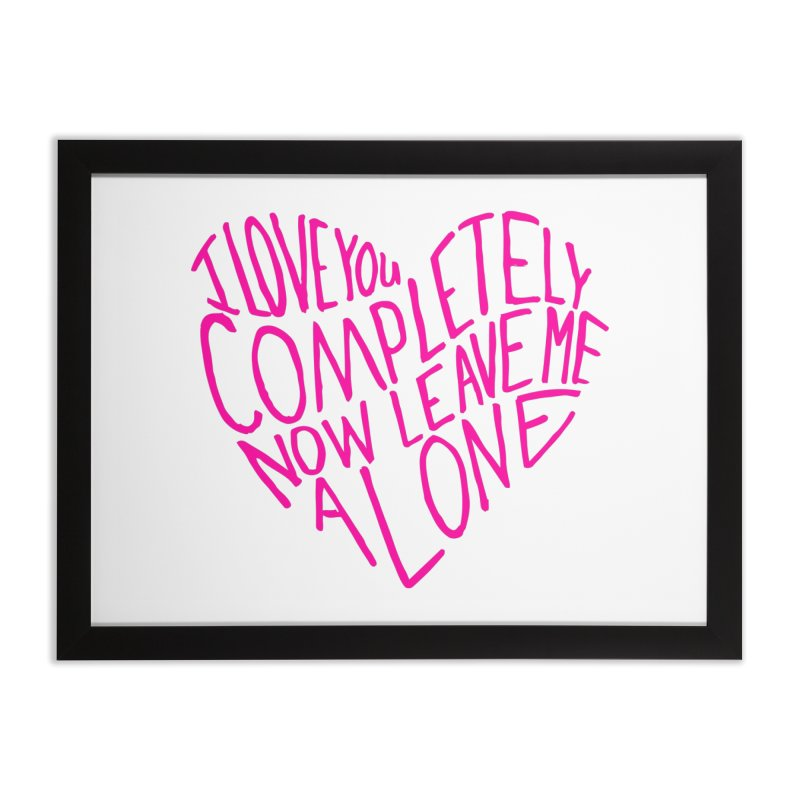 Introvert Love (Pink) Home Framed Fine Art Print by Lauren Things Store