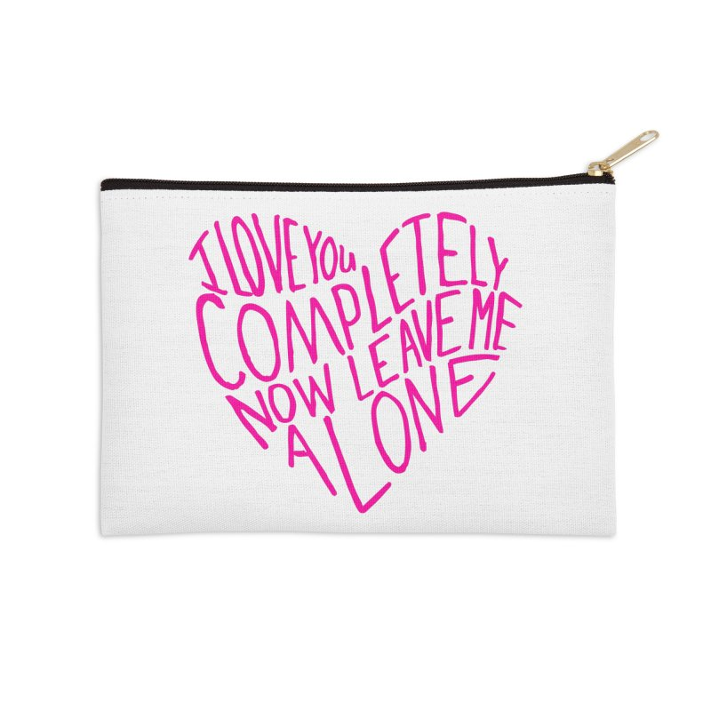 Introvert Love (Pink) Accessories Zip Pouch by Lauren Things Store