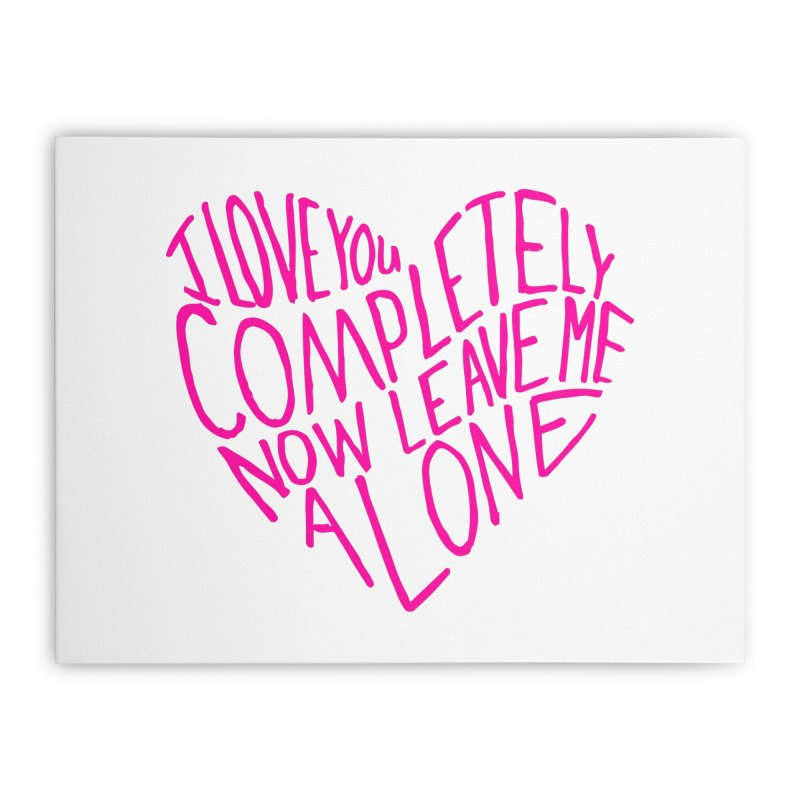 Introvert Love (Pink) Home Stretched Canvas by Lauren Things Store